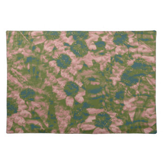 Flower camouflage pattern placemat