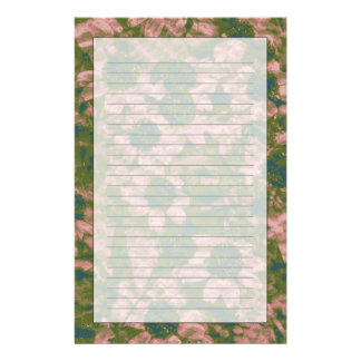 Flower camouflage pattern stationery paper