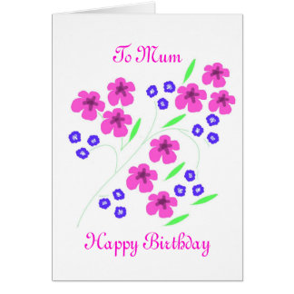 Flower card Mum