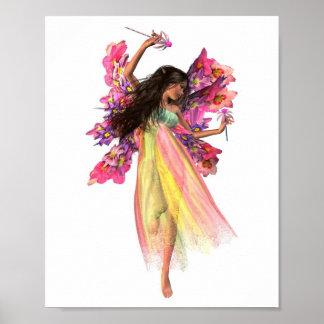 Flower Carnival Fairy Poster
