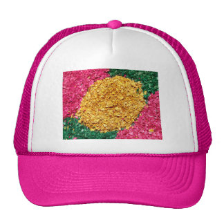 Flower carpet trucker hats