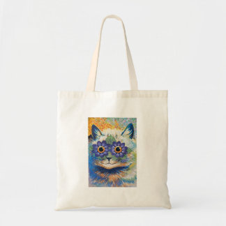 Flower Cat by Louis Wain Tote Bag