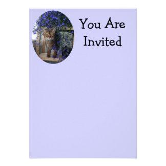 Flower Cat Custom Invitations