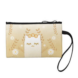 Flower Cat key coin clutch