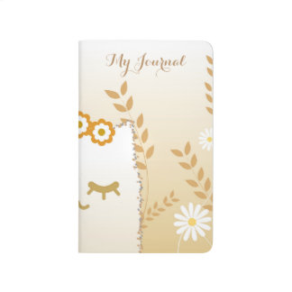 Flower Cat pocket journal