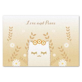 Flower Cat tissue paper