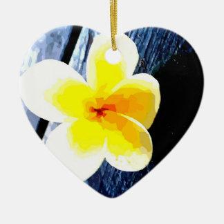 Flower Ceramic Heart Decoration