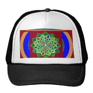 FLOWER CHAKRA Wheel Energy: Emerald Green Mesh Hat
