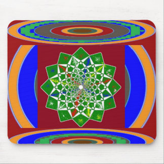 FLOWER CHAKRA Wheel Energy: Emerald Green Mouse Pad