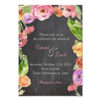 Flower, chalk invite