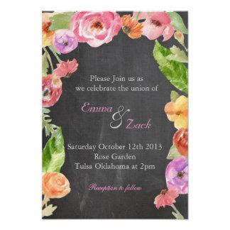 Flower chalk invite