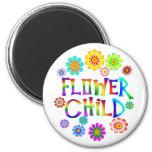 FLOWER CHILD 6 CM ROUND MAGNET