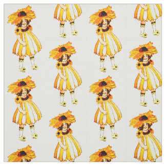 FLOWER CHILD BLACK-EYED SUSAN FLORAL FAIRY PATTERN FABRIC
