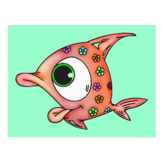 Flower Child Fish Post Cards