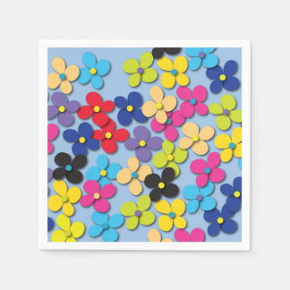 Flower Child Hippie Trippy Peace Fine Floral Disposable Napkins