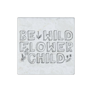 Flower Child Stone Magnet