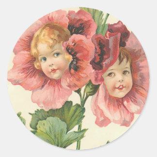 Flower Children Round Sticker