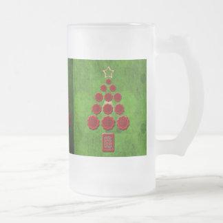Flower Christmas Mugs
