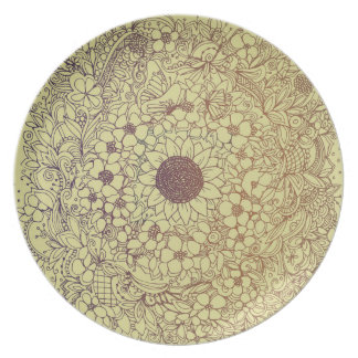 Flower circle plate