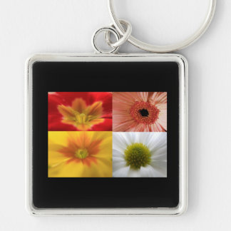Flower Close-Up Collage Keychain