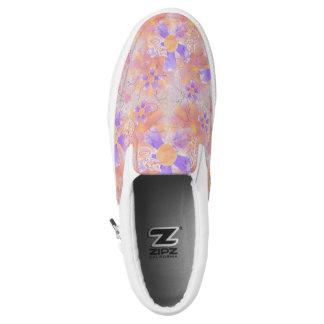 Flower Clowns Pattern Slip-On Shoes