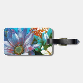 Flower Collage Luggage Tag