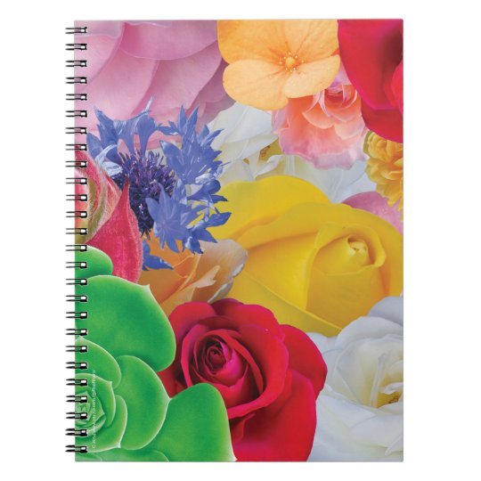 Flower Collage - Spiral Notebook