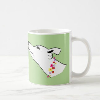 flower collar coffee mug