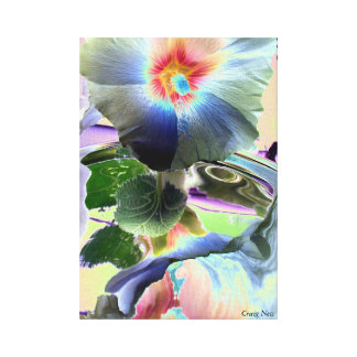 FLOWER COLOR PRINT ON CANVAS SUMMER FUN DECOR L@@K CANVAS PRINT