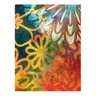 Flower Color Splash Postcard