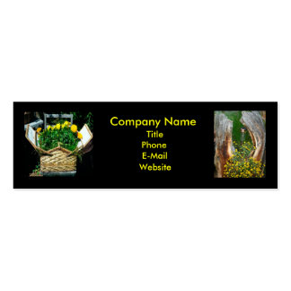 Flower Company Bookmark Business Card