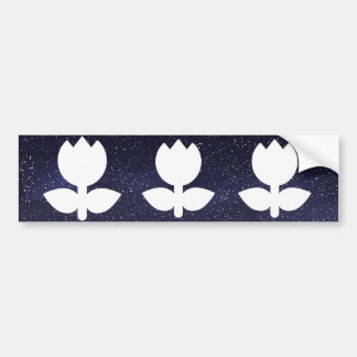 Flower Cools Pictogram Bumper Sticker