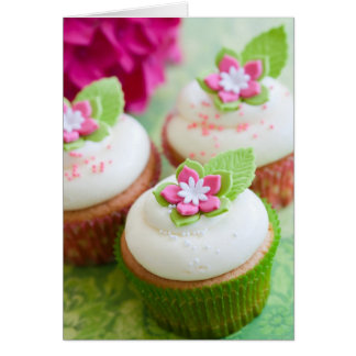 Flower cupcakes cards