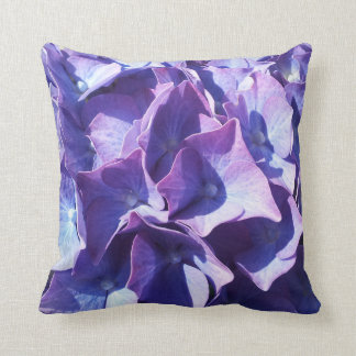 Flower Cushion Blue Hydrangea Reversible