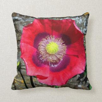 Flower Cushion Red Poppy