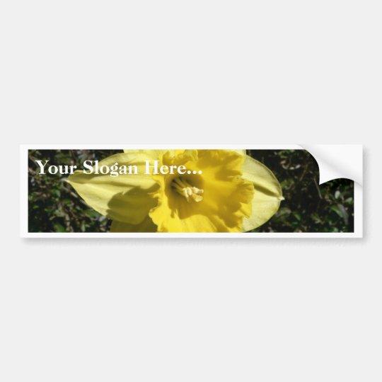 Flower Daffodil Bumper Sticker