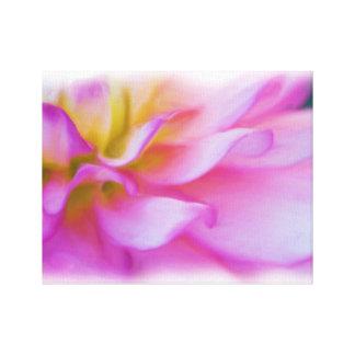 Flower Dahlia Blossom Stretched Canvas Prints