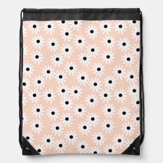 Flower Daisy Blush Floral Girls / Andrea Lauren Drawstring Bag