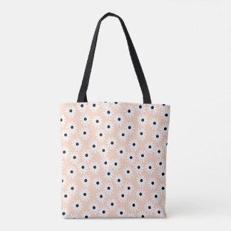 Flower Daisy Blush Floral Girls / Andrea Lauren Tote Bag
