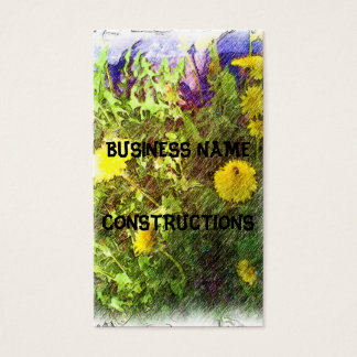 Flower dandelion business card