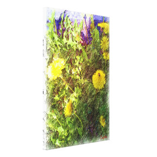 Flower dandelion canvas print