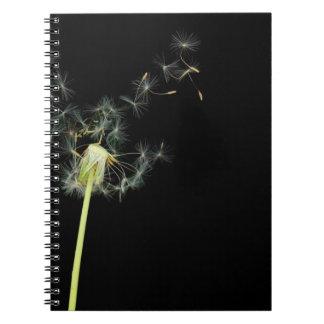 Flower - Dandelion - Gesundheit Spiral Note Book