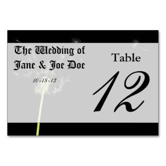 Flower - Dandelion - Gesundheit Table Cards