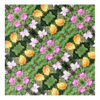 Flower Dapple 750D Diagonal Fractal Acrylic Wall Art