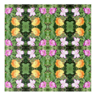 Flower Dapple 750D Fractal Acrylic Print