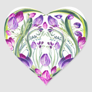 Flower day every day heart sticker
