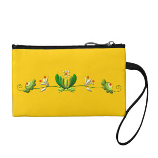 Flower Decor Coin Purse