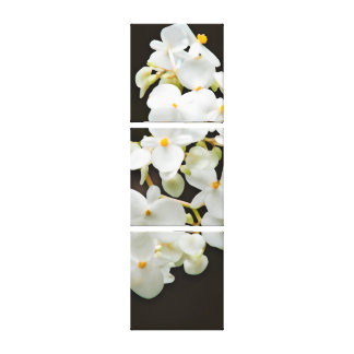 Flower decor tile by 3 stretched canvas prints