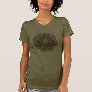 Flower & denim thorn / purple plum designer top tee shirts