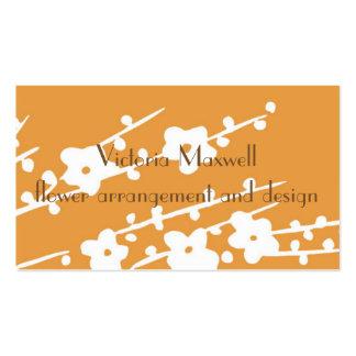 Flower design and arrangement business card